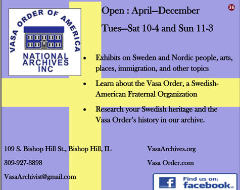 Vasa Archive & Museum in Bishop HIll, Il